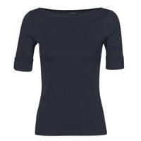 Vêtements Femme T-shirts manches longues Lauren Ralph Lauren JUDY Marine