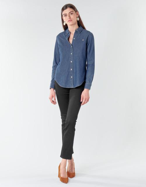 Vêtements Femme Jeans droit Lauren Ralph Lauren PRM STRAIGHT Noir