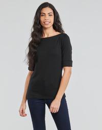 Vêtements Femme T-shirts manches longues Lauren Ralph Lauren JUDY Noir