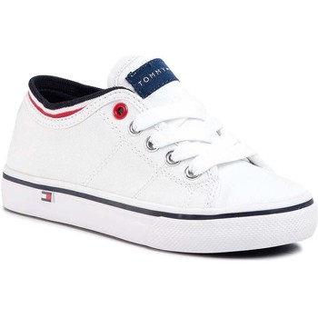 Chaussures Baskets basses Tommy Hilfiger LOW CUT LACE-UP SNEAKER blanc
