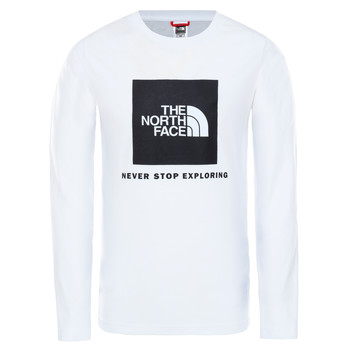 Vêtements Garçon T-shirts manches longues The North Face NEW BOX LOGO TEE Blanc