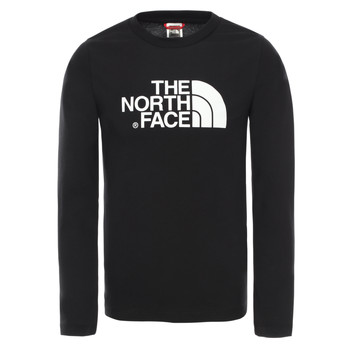 Vêtements Garçon T-shirts manches longues The North Face EASY TEE LS Noir