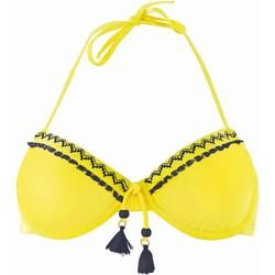 Vêtements Femme Maillots de bain séparables Brigitte Bardot Haut de maillot à armatures  jaune/marine Mambo Jaune