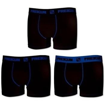 Sous-vêtements Homme Boxers Freegun Lot de 3 boxers homme coton Noir Noir