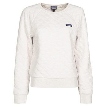 Vêtements Femme Sweats Patagonia W'S ORGANIC COTTON QUILT CREW Ecru