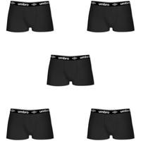 Sous-vêtements Homme Boxers Umbro Lot de 5 Boxers coton homme Noir