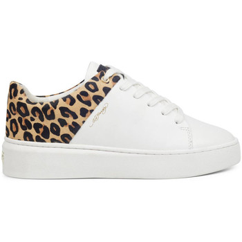 Chaussures Baskets basses Ed Hardy Wild low top white leopard Blanc