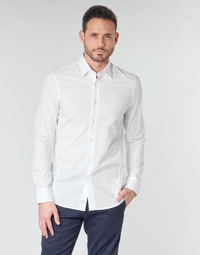 Vêtements Homme Chemises manches longues G-Star Raw DRESSED SUPER SLIM SHIRT LS white