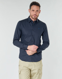 Vêtements Homme Chemises manches longues G-Star Raw DRESSED SUPER SLIM SHIRT LS mazarine blue