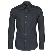 Vêtements Homme Chemises manches longues G-Star Raw DRESSED SUPER SLIM SHIRT LS Noir