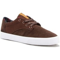 Chaussures Homme Chaussures de Skate Supra pistol chocolate white Marron