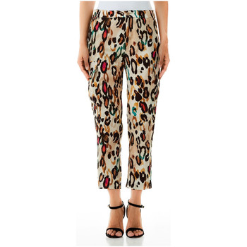 Vêtements Femme Pantalons fluides / Sarouels Liu Jo PANTALONE IS u9895-multicolor-spots