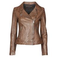 Vêtements Femme Vestes en cuir / synthétiques Oakwood FOLLOW Cognac