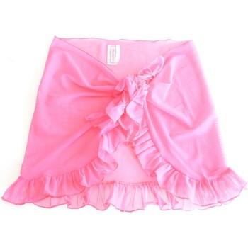 Vêtements Fille Jupes Princesse Ilou Paréo en tulle uni à volant Rose