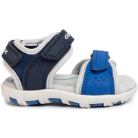 Chaussures Garçon Sandales sport Geox SANDALE B PLANET BOY TRIPLE STRAP Navy-Royal