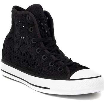 Chaussures Femme Baskets montantes Converse ALL STAR CROCHET BLACK Nero