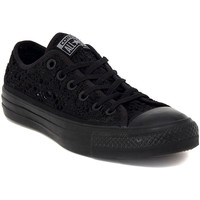Chaussures Femme Baskets basses Converse ALL STAR CROCHET BLACK Nero
