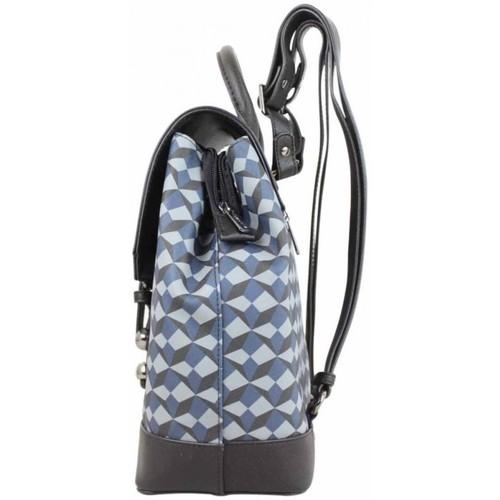 Hexagona Sac À Dos Semi-rigide Motif Symétrique Bleu Multicolor - Sacs Femme 5400 1bwZk