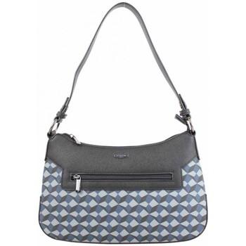 Sacs Femme Sacs porté épaule Hexagona Sac épaule demi lune  rigide motif imprimé bleu Multicolor