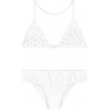 Vêtements Fille Maillots de bain 2 pièces Mayoral Maillot de bain 2 pièces à fleurs Blanc