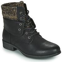 Chaussures Femme Boots Spot on F50613 Noir