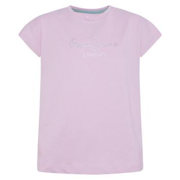 Vêtements Fille T-shirts manches courtes Pepe jeans NURIA Bleu