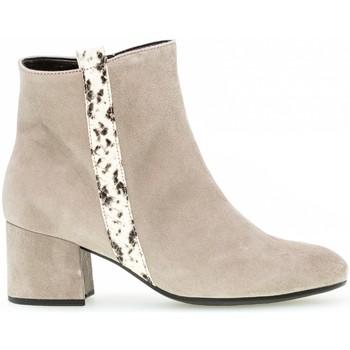 Chaussures Femme Bottines Gabor Bottines velours talon  recouvert Beige