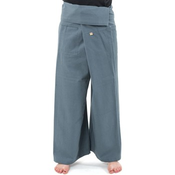 Vêtements Femme Chinos / Carrots Fantazia Pantalon Fisherman 100% coton epais + 10 couleurs Gris clair