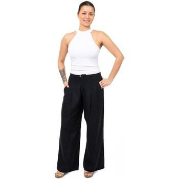 Vêtements Femme Chinos / Carrots Fantazia Pantalon boule droit Rangoon Noir