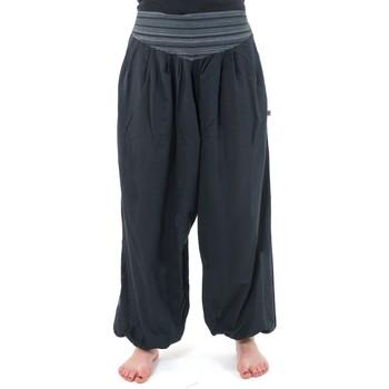 Vêtements Femme Pantalons fluides / Sarouels Fantazia Pantalon sarouel V aladin sarwel indien Noir et gris