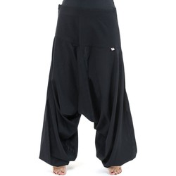 Vêtements Pantalons fluides / Sarouels Fantazia Pantalon sarouel bali coton nepalais aladin sarwel Noir