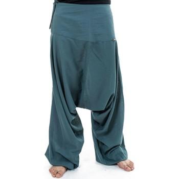 Vêtements Pantalons fluides / Sarouels Fantazia Pantalon sarouel bali coton nepalais aladin sarwel Gris-Bleu
