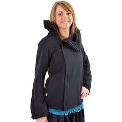 Vêtements Femme Manteaux Fantazia Veste zip diago doublée polaire grand col Chocolat