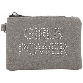 Sacs Femme Portefeuilles Girls Power Porte monnaie plat  Star clouté / pailleté Gris Multicolor