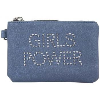 Sacs Femme Portefeuilles Girls Power Porte monnaie plat  Star clouté / pailleté Marine Multicolor