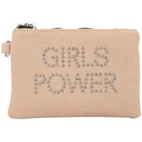Sacs Femme Portefeuilles Girls Power Porte monnaie plat  Star clouté / pailleté Rose Multicolor