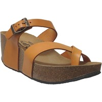 Chaussures Femme Tongs Plakton S2 bombay Orange cuir