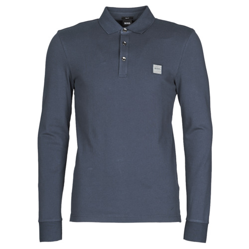 Vêtements Homme Polos manches longues BOSS PASSERBY Marine