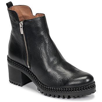 Chaussures Femme Bottines Wonders H3924 Noir