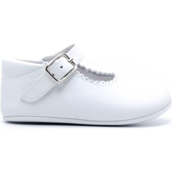 Chaussures Fille Chaussons bébés Boni & Sidonie Chaussons bébé cuir souple - ALIX Blanche