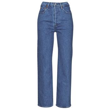 Vêtements Femme Jeans droit Levi's RIBCAGE STRAIGHT ANKLE Bleu
