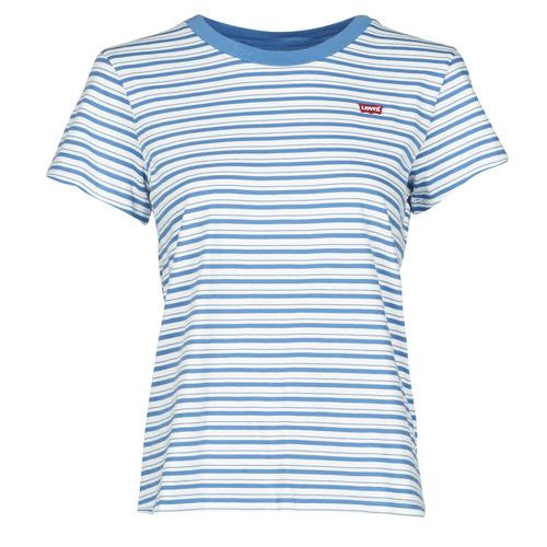 Vêtements Femme T-shirts manches courtes Levi's PERFECT TEE Bleu