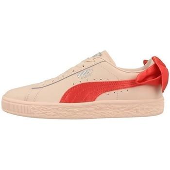 Chaussures Enfant Baskets basses Puma Basket Bow JR Orange