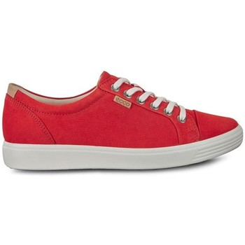 Chaussures Femme Baskets basses Ecco Soft 7 Rouge, Gris