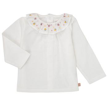 Vêtements Fille T-shirts manches longues Carrément Beau Y95244 Blanc