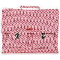 Sacs Fille Cartables Bakker Made With Love CARTABLE BIG CANVAS Rose