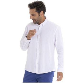 Vêtements Homme Chemises manches longues Gentleman Farmer CAMEL Blanc
