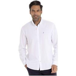 Vêtements Homme Chemises manches longues Gentleman Farmer CALVYN Blanc