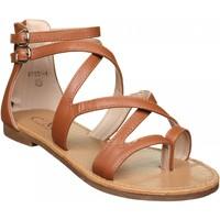 Chaussures Femme Sandales et Nu-pieds C M Sandales femme multi-brides Marron