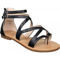 Chaussures Femme Sandales et Nu-pieds C M Sandales femme multi-brides Noir